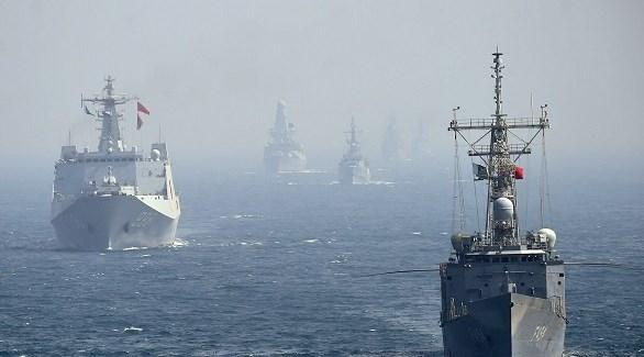 سفن حربية صينية في المحيط الهادي (أرشيف)