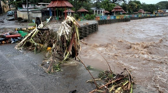 مياه أمطار متراكمة في هندوراس (أرشيف)