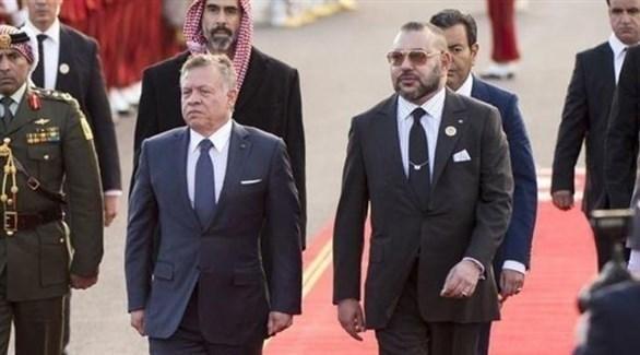 العاهل المغربي والأردني في لقاء سابق (أرشيف)