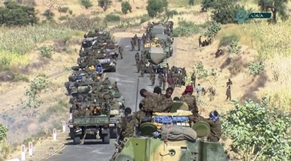 قوات أثيوبية في طريقها إلى تيغراي (أرشيف)