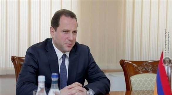 وزير الدفاع الأرمني المستقيل ديفيد تونويان (أرشيف)
