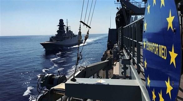 سفن أوروبية في المتوسط (أرشيف)