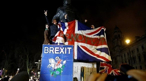 احتجاجات مؤيدة للبريكست عن الاتحاد الأوروبي في لندن (أرشيف)