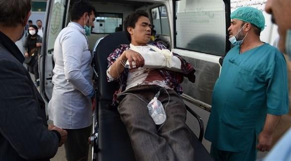 أحد الطلاب الذين أصيبوا جراء الهجوم (أف ب)