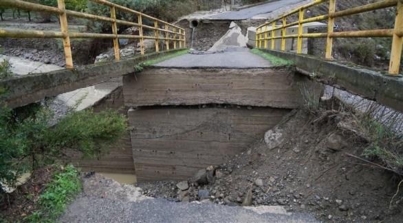 الأمطار أدت لتدمير عدد من الطرق (الأوروبية)