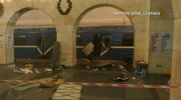 جانب من الدمار الذي لحق بالقطار (أرشيف)