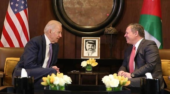 الملك عبدالله خلال لقاء سابق مع بايدن (أرشيف)