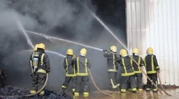 الدفاع المدني السعودي يتعامل مع حريق (أرشيف)