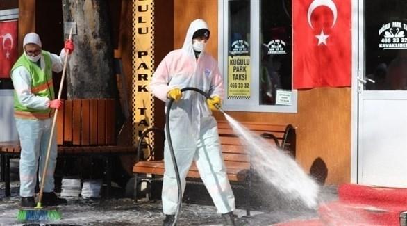 حملات تعقيم في شوارع تركيا (أرشيف)