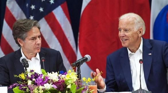 الرئيس الأمريكي المنتخب جو بايدن ومرشحه للخارجية أنتوني بلينكين (أرشيف)