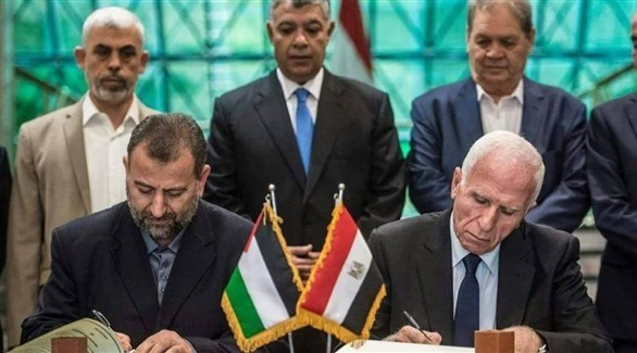توقيع اتفاق للمصالحة بين فتح وحماس بالقاهرة في 2017 (أرشيف)