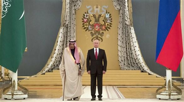 الرئيس الروسي فلاديمير بوتين والملك سلمان بن عبد العزيز (أرشيف)
