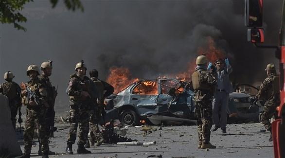 قوات أمن أفغانية تنتشر في محيط موقع انفجار ضخم (أرشيف)