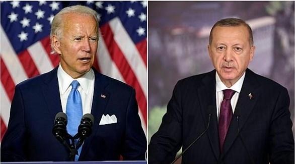 الرئيس التركي أردوغان والرئيس الأمريكي المنتخب بايدن (أرشيف)