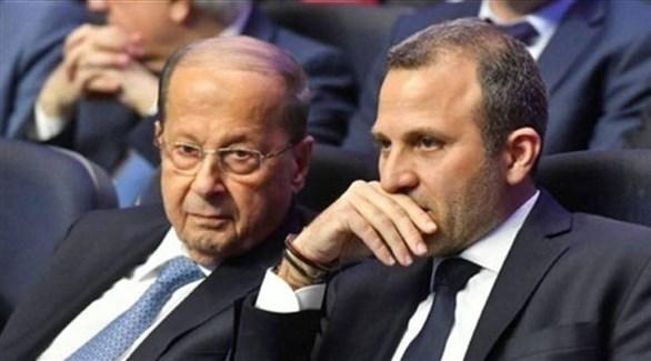 رئيس التيار الوطني الحر جبران باسيل والرئيس اللبناني ميشال عون (أرشيف)