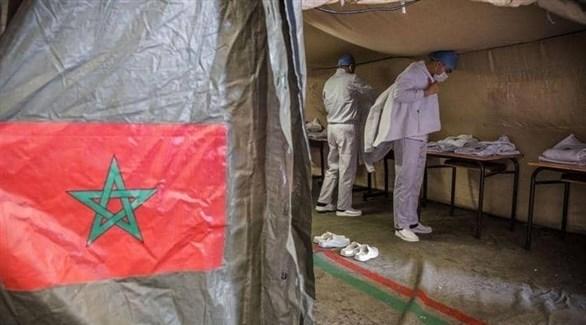 معالجون مغاربة في مركز متنقل لكشف كورونا (أرشيف)