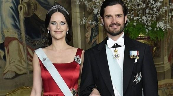 الأمير كارل فيليب وزوجته الأميرة صوفيا (أرشيف)