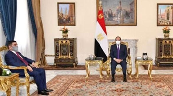 الرئيس المصري عبد الفتاح السيسي خلال استقبال وزير الدفاع العراقي (ارشيف)