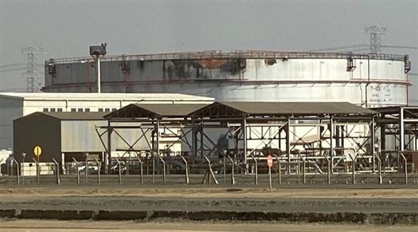 جانب من الأضرار التي خلفها الهجوم (وكالة الأنباء السعودية)