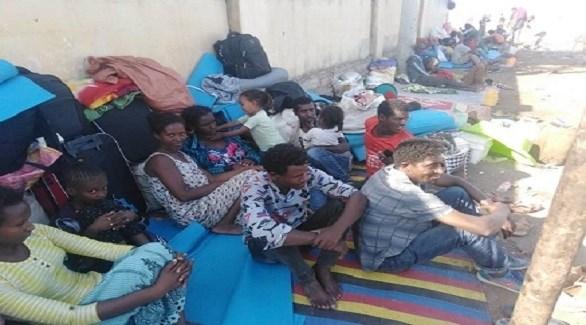 لاجئون من تيغراي في نقطة حمدايت السودانية (سودان تريبيون)