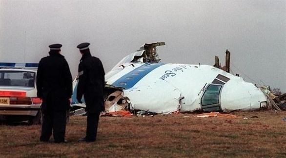 حطام طائرة شركة بان أم الأمريكية في لوكربي الاسكتلندية (أرشيف)