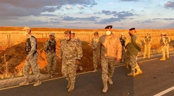 عناصر من القوات الأردنية على الواجهة الشرقية للبلاد (أرشيف / بترا)