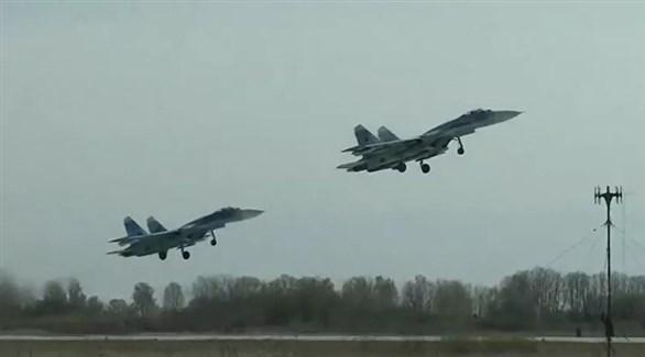 مقاتلات روسية من طراز سوخوي 27 (أرشيف)