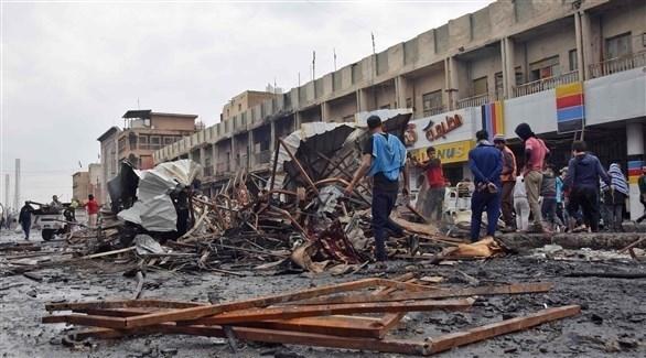 آثار أعمال العنف التي شهدتها مدينة الناصرية (الفرنسية)