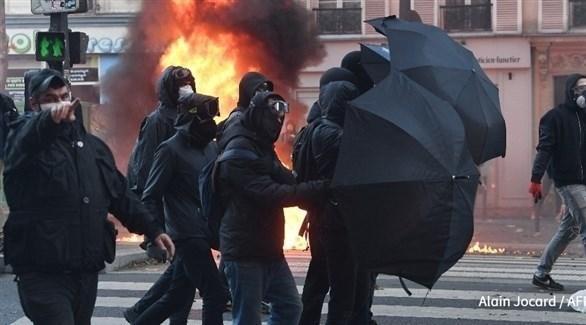 متظاهرون في باريس (أ.ف.ب)