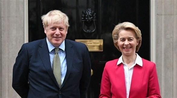 رئيس وزراء البريطاني ورئيسة المفوضية الأوروبية (أرشيف)