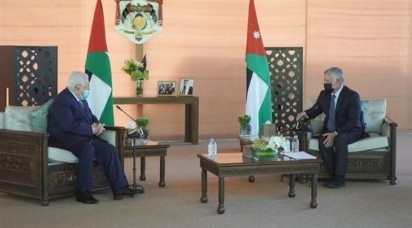 من لقاء العاهل الأردني الملك عبدالله بالرئيس الفلسطيني محمود عباس (بترا)