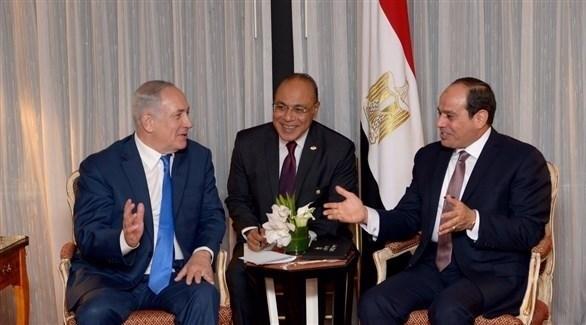 الرئيس المصري عبدالفتاح السيسي ورئيس الوزراء الإسرائيلي بنيامين نتانياهو (أرشيف)