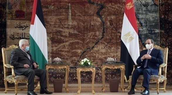 جانب من لقاء السيسي وعباس في القاهرة