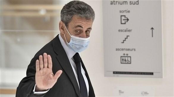 ساركوزي لدى وصوله لمحكمة باريس (الفرنسية)