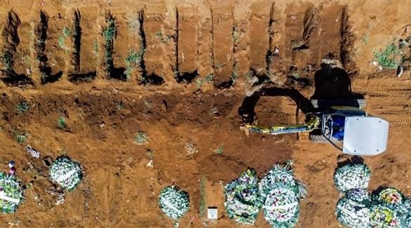 قبور لمتوفين بكورونا في البرازيل (أرشيف)