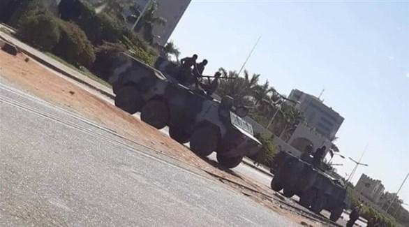الجيش السوداني ينشر آليات عسكرية للتصدي لمجموعة من المتمردين اليوم (تويتر)