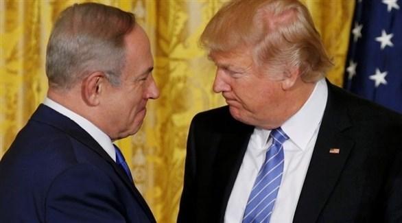 الرئيس الأمريكي دونالد ترامب ورئيس الوزراء بنيامين نتانياهو (أرشيف)