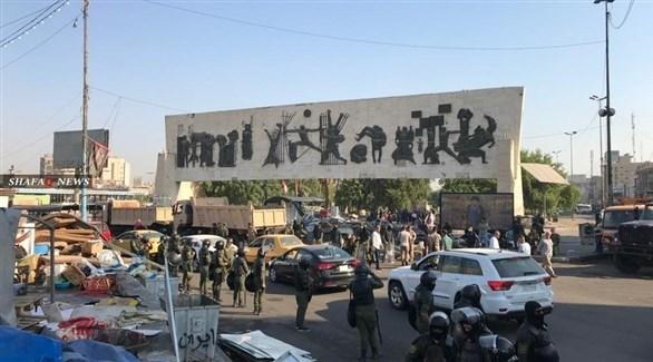 انتشار الشرطة العراقية لضبط الأوضاع الأمنية (تويتر)