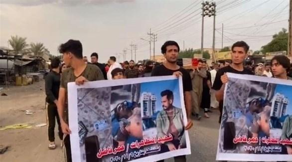 مسيرة تشييع للمتظاهر عمر فاضل