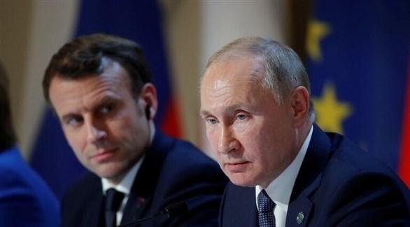 بوتين وماكرون - أرشيف