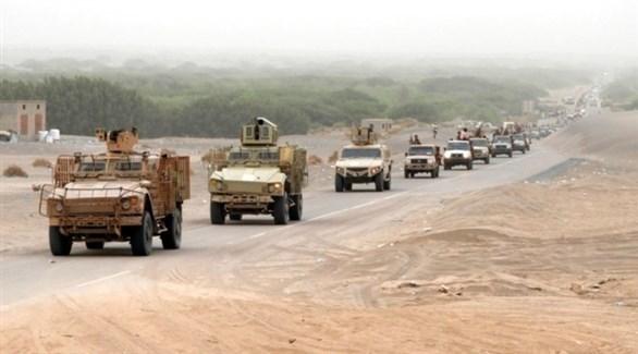 قافلة عسكرية من الجيش الوطني اليمني (أرشيف)