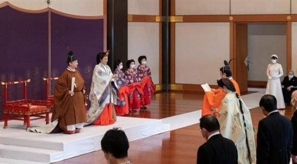 الأمير أكيشينو  أمام الحاضرين: