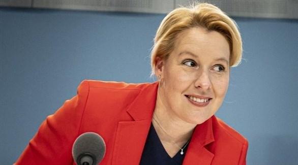 وزيرة شؤون الأسرة الألمانية فرانتسيسكا غيفاي (أرشيف)