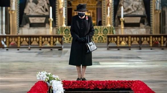 الملكة إليزابيث الثانية تكرم الجندي المجهول - رويترز