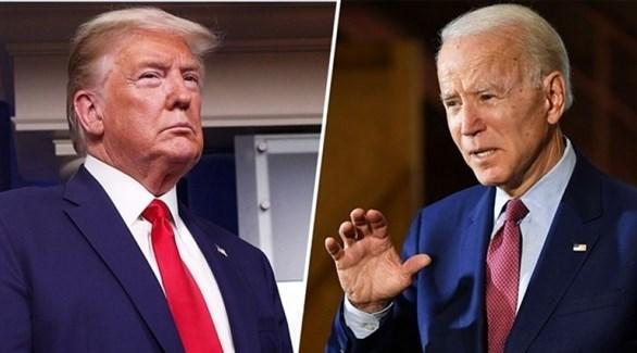 الرئيس الأمريكي المنتهية ولايته ترامب، والرئيس المنتخب بايدن (أرشيف)