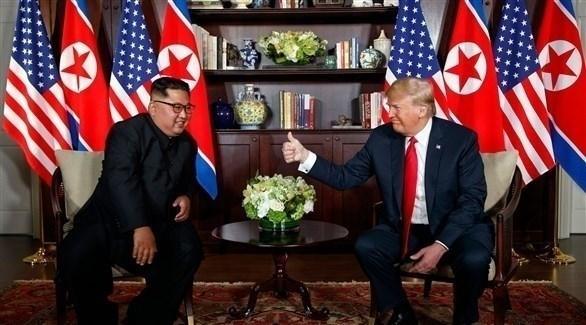 الرئيس الأمريكي مع زعيم كوريا الشمالية (أرشيف)