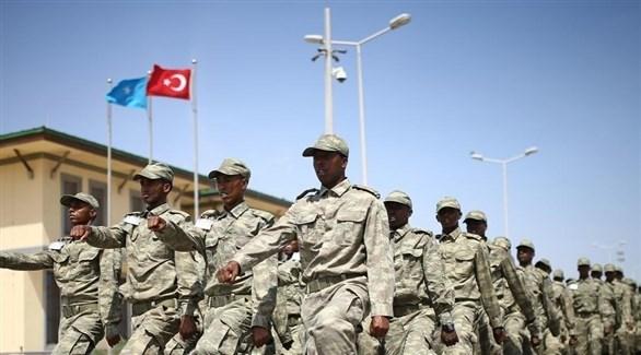 جنود صوماليون في قاعدة تركية (أرشيف)