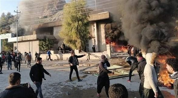 محتجون في السليمانية بكردستان العراق (أرشيف)