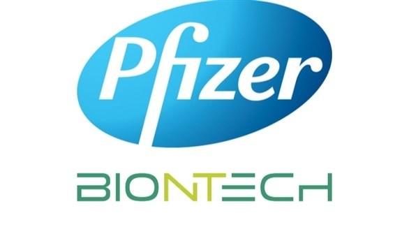 شعارا شركتي الأدوية فايز وبيونتيك (أرشيف)