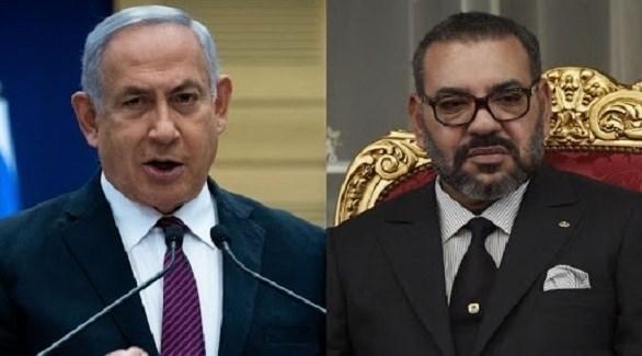 العاهل المغربي الملك محمد السادس ورئيس الوزراء الإسرائيلي بنيامين نتانياهو (أرشيف)